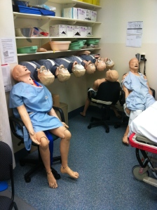 Even the manequins are exhausted after a long day at the RAH trauma course
