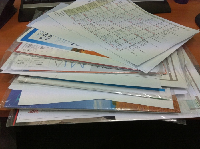 One morning's pile of papers in GP