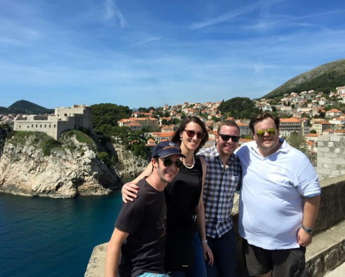 Aaron, me, Gerry and Dave walking the walls of Old Dubrovnik