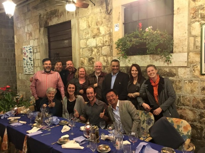 Dinner with friends new and old - well-earned after climbing typical Old Dubrovnik steps!