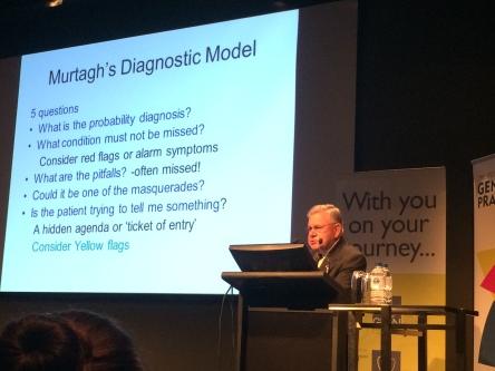The man himself, Prof. Murtagh, explaining his own diagnostic model
