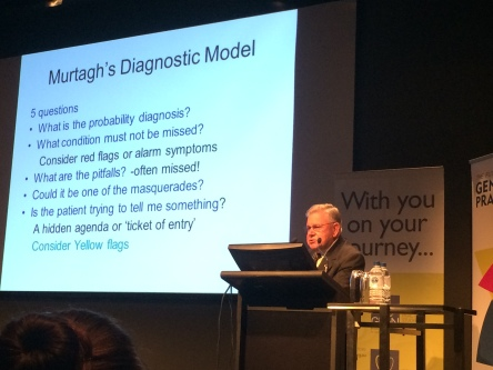 The man himself, Prof. Murtagh, explaining his own diagnostic model