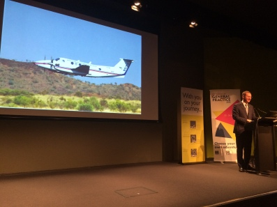 Professor Kidd had positive early experiences with the RFDS