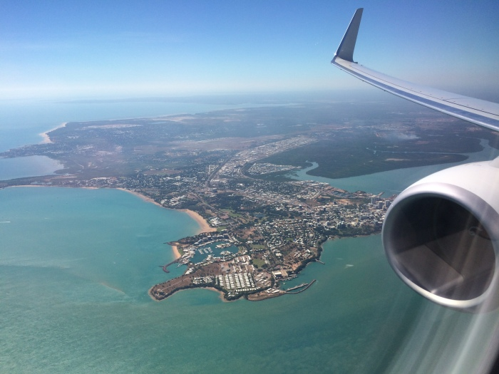 Flying in to sunny Darwin