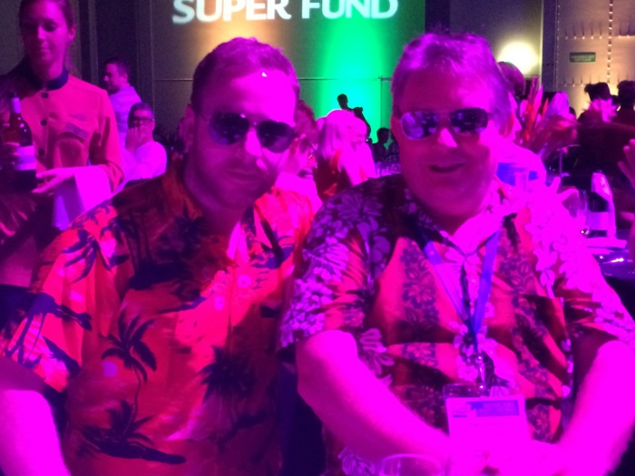 Dr. Gerry Considine (rural GP) and Dr. Nigel Stewart (rural paediatrician) at the NRHC dinner