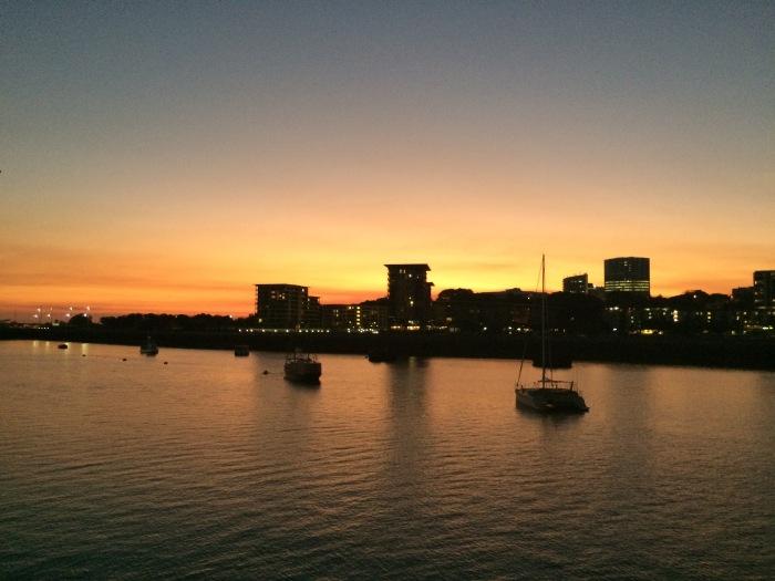 Darwin sunset from the Wharf